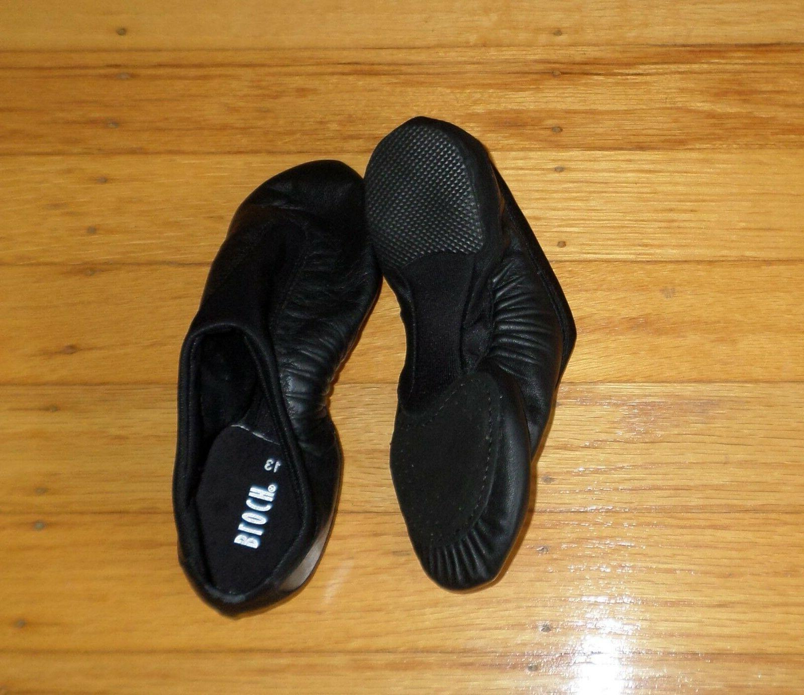 pulse split sole jazz shoe black size