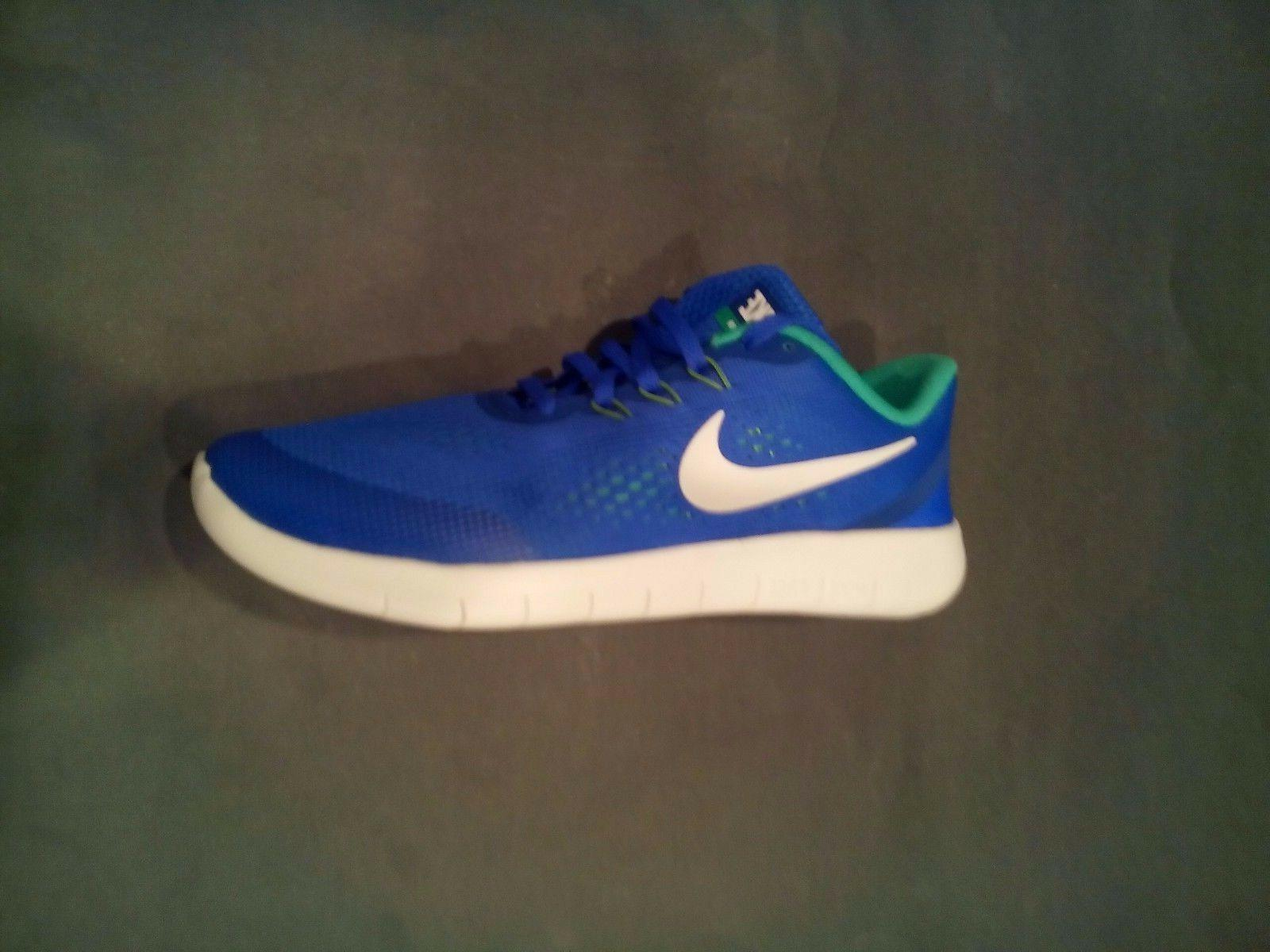 Boy's Nike 'Free Rn' Running Shoe, Size 7 M - Blue