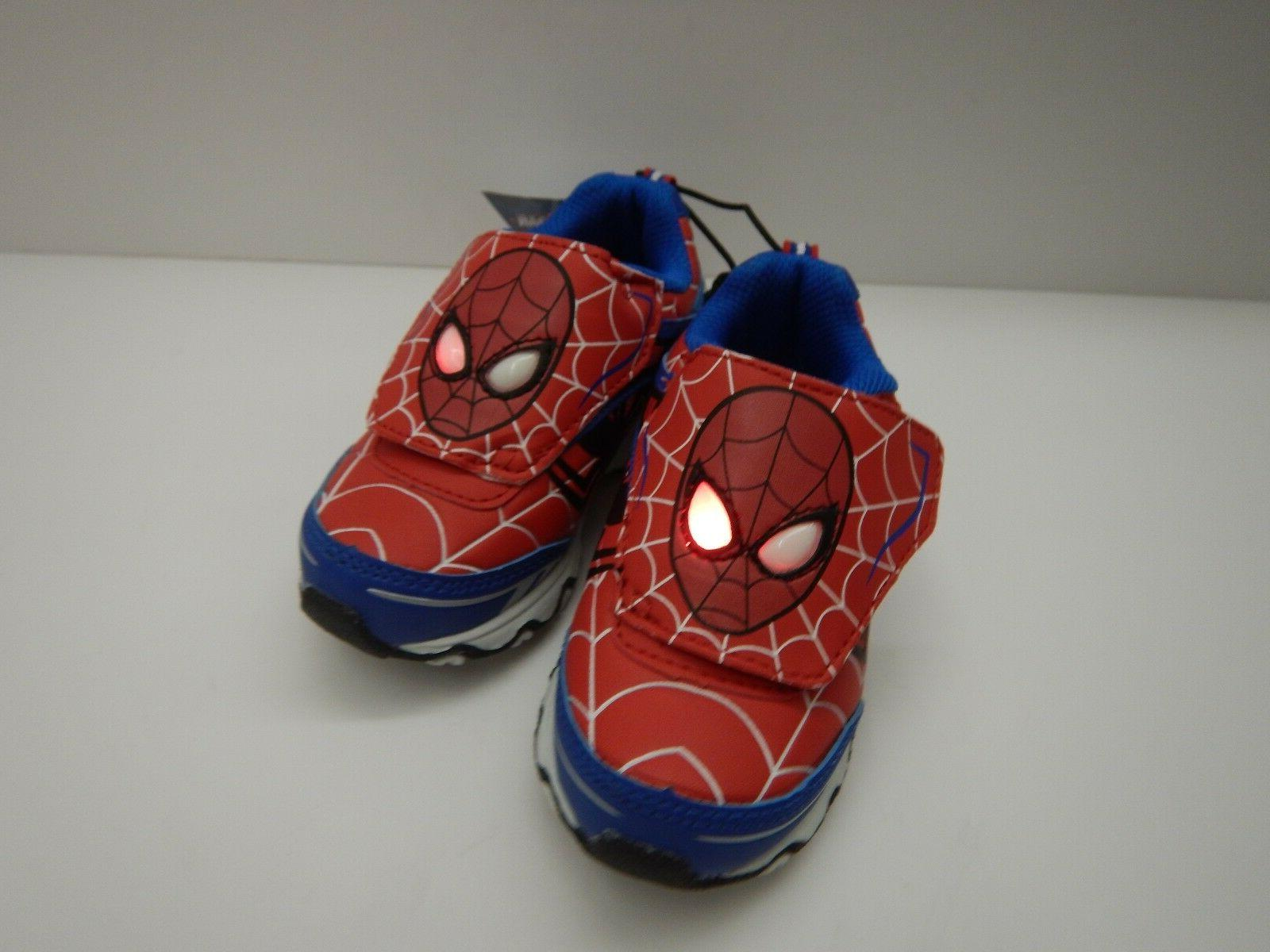 Spiderman Boys Light Shoes 8 9