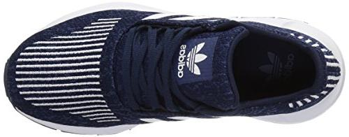 adidas Running Shoe, Navy/White/Mystery Blue, 4 M US Big