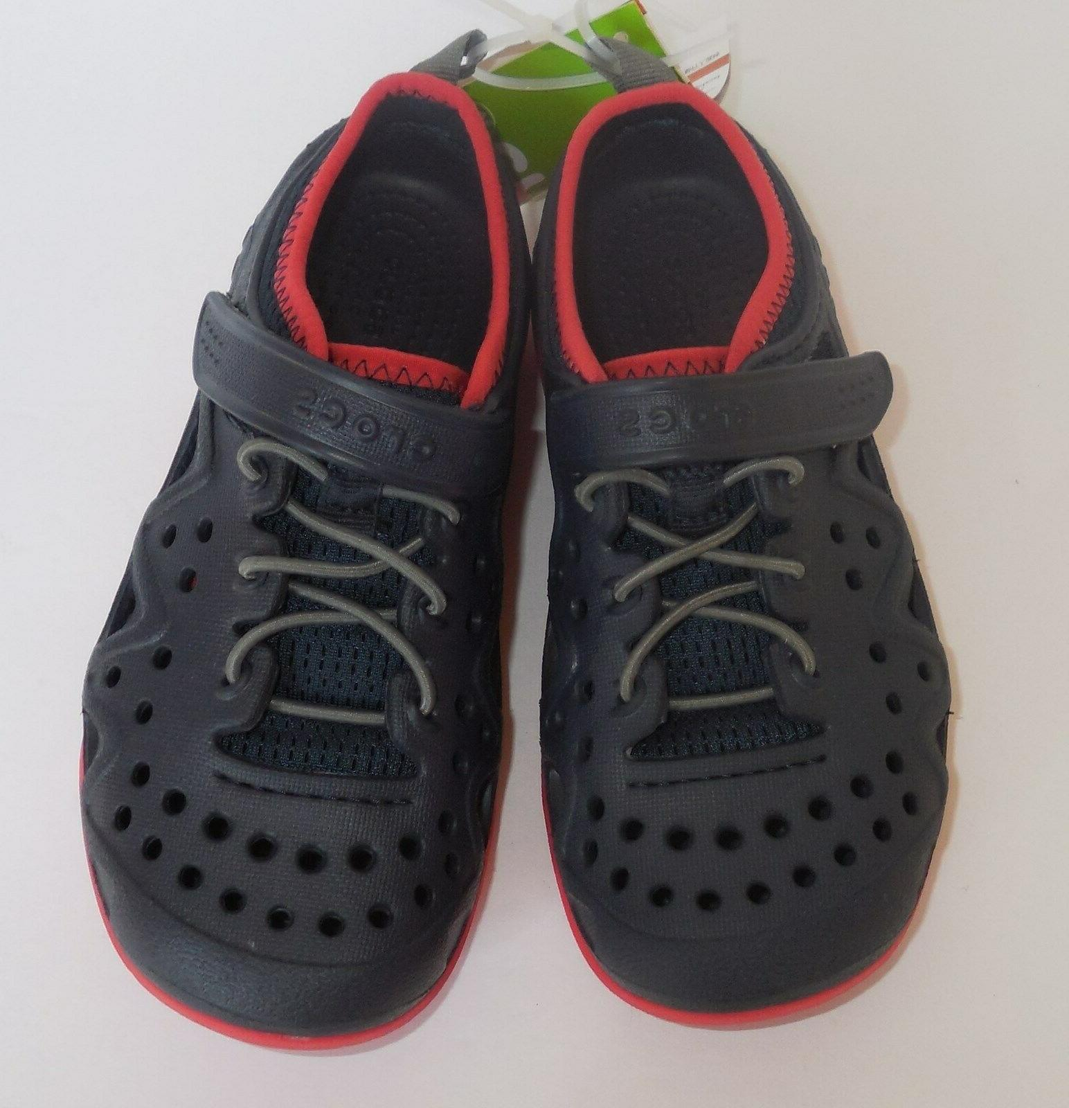 Crocs Swiftwater Play Shoes Boys C13 Navy Blue New 204989-410