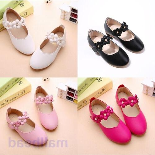 Toddler Baby Girl Shoes Kids Flats Mary Jane Flats Dress Pin