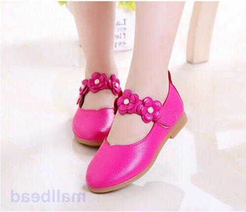 Toddler Kids Mary Flats Dress Pink Princess Shoes Hot