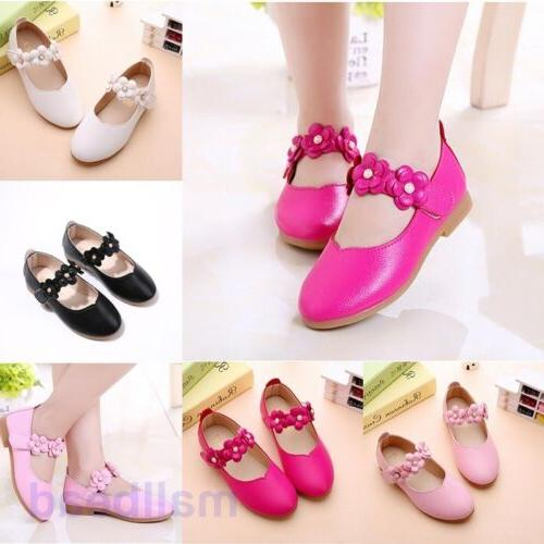 Toddler Girl Kids Flats Flats Dress Shoes Hot