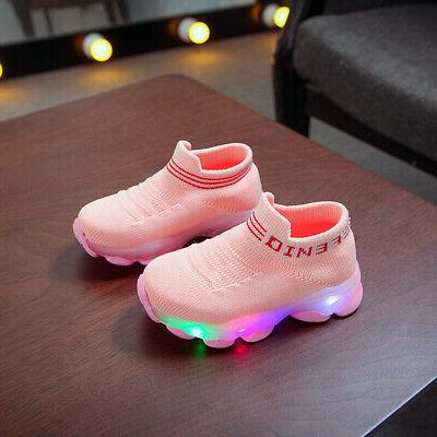 Toddler Baby Girls LED Up Shoes