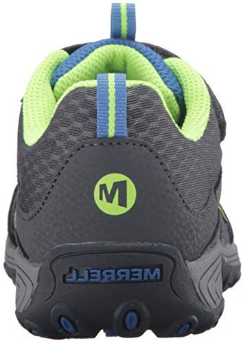 Merrell Shoe Grey/Blue/Citron, M US Big Kid