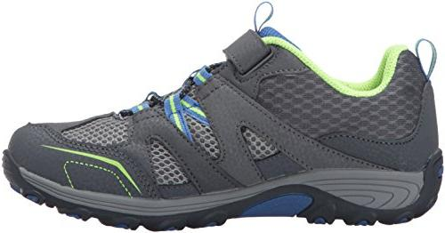 Merrell Trail Chaser Hiking Shoe , Grey/Blue/Citron, 4 M US Big