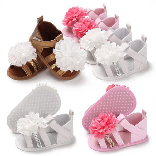 US Kids Baby Girl Summer Sandals Shoes Sneaker Anti-slip Sof