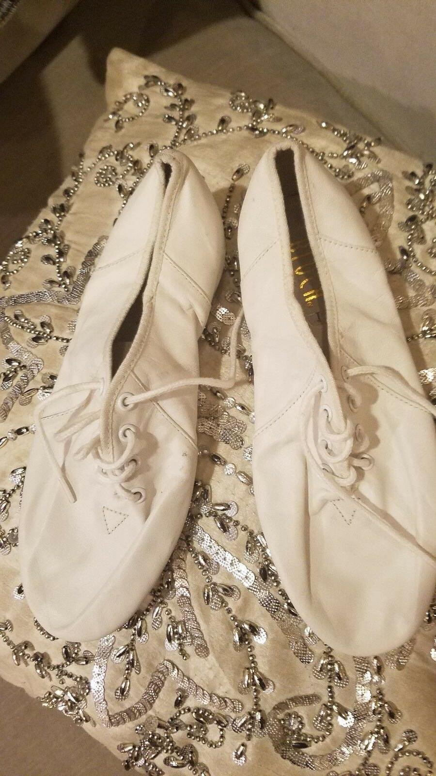 Bloch White Colored Jazz Shoes