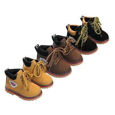 Toddler Baby Kids Winter Warm Army Martin-Boots Boy Girl Lea