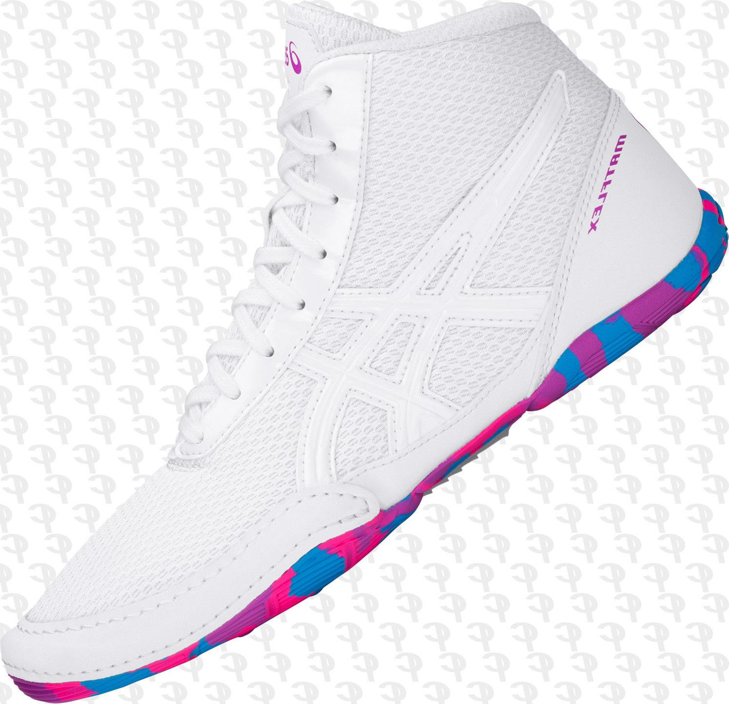 Asics YOUTH Kids Matflex 5 GS Wrestling Shoes, White, C545N-