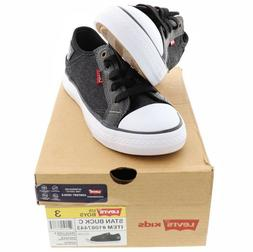 Levi's Boys Shoes Black DENIM Kids Size 1 2 3 4 12 13 Sport