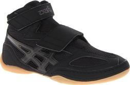 ASICS Matflex 4 GS Wrestling Shoe ,Black/Onyx,4 M US Big Kid