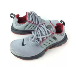 NEW Nike Air Presto Athletic Shoes Sneakers Gray Gym Red GS