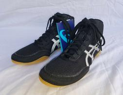 New Boy's Asics Matflex 5 Kids Wrestling Shoes Black with Si