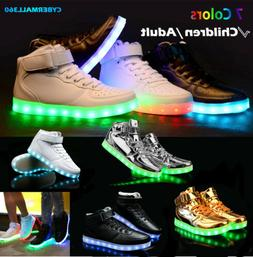 new children kids boys girls luminous sneakers