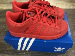 NEW KID'S ADIDAS ORIGINALS SUPERSTAR TRIPLE RED SHOES B27525