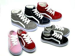 New Kids Boy Girl Classic Lace Up Canvas shoes Youth Athleti