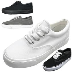 new kids casual canvas lace up low