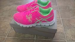 New Kids Asics Gel Craze TR 3 Girls 6Y Pink /Green Shoes