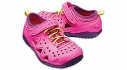 New Kids Girls CROCS Swiftwater Play Shoes SZ 8 9 10 11 12 1