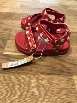 New Native Kids Shoes Sandals Charley  Red Stars Size C6