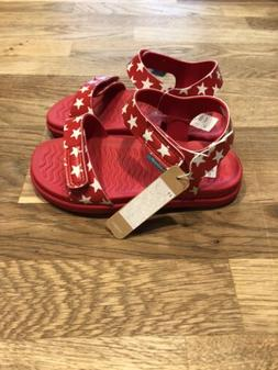 New Native Kids Shoes Sandals Charley  Red Stars Size C10