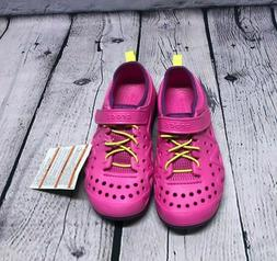 New Crocs Kids' Swiftwater Play Shoes Neon Magenta Pink Size
