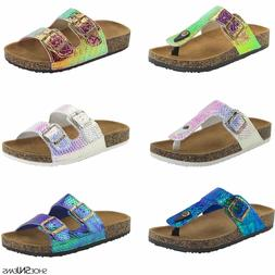 New Women&Kids Glitter Sandals Shoes Gladiator Thong Flops F