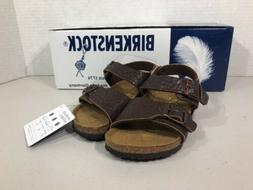 BIRKENSTOCK New York Kinder Kids Size 8 Buffalo Dk Brown Lea