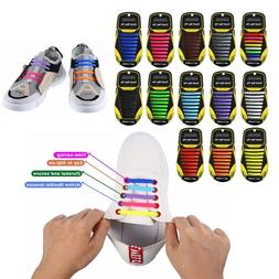 No Tie Shoelaces Elastic Shoe Laces Silicone Rubber For Kids