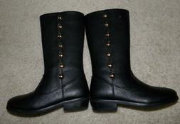 NWT Trish Scully Child Black Leather Dress Boots size 11