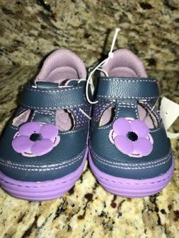 nwt child velcro shoes purple size 4