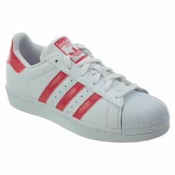 originals kids superstar white pink leather shell
