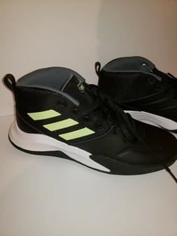 adidas Own The Game Wide Kids Youth Black Basketball Shoes 2