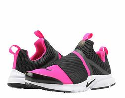 Nike Presto Extreme  Black/Pink-White Big Kids Running Shoes