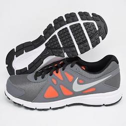 Nike Revolution 2 555082-017 Grey Silver & Orange Boys Kids