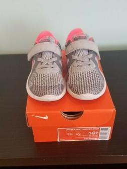 NEW Boys Kids Youth NIKE Flex Experience 4 749807 081 Grey Orange Sneakers Shoes