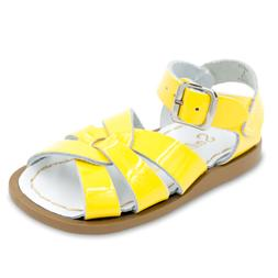 NEW INFANT TODDLER SALT WATER SANDAL 881 SHINNY YELLOW SUN-SAN BY HOY SHOES