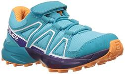 Salomon Unisex Speedcross Bungee K Trail Running Shoe, Blue