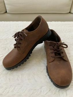 SPERRY TOP-SIDER Kids Shoes Brown Leather Lace Oxford Boys S