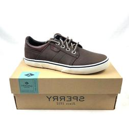 Sperry Top Sider Ollie Shoes Kids Boys US 1M Brown Leather Y