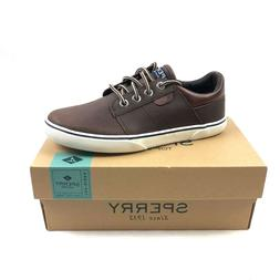 Sperry Top Sider Ollie Shoes Kids Boys US 2M Brown Leather Y