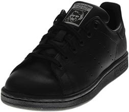 adidas Performance Stan Smith J Tennis Shoe , Black/Black/Ru