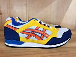 ASICS STORMER WHITE ORANGE YELLOW BLUE RUNNING KIDS GS SZ 3-