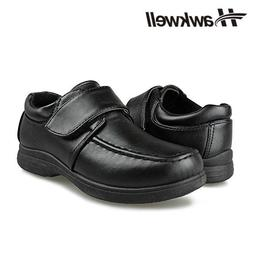 Kids Students Black Uniform School Shoes Hoop&Loop Sneakers