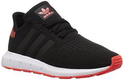 adidas Originals Unisex Swift Running Shoe, Black/Solar red,