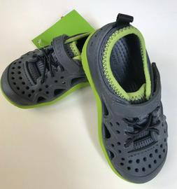 Crocs Swiftwater Boys Play Water Shoes Grey Green Sizes Todd