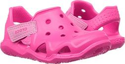 crocs Kids' Swiftwater Wave Water Sandal, Neon Magenta, 11 M