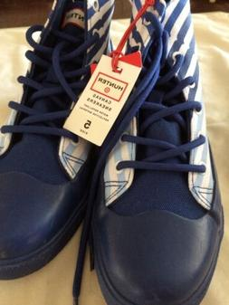 Tennis Shoes for Kids, Sneakers Blue Striped Size 5 high top